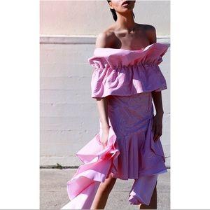 Viva Aviva Multilevel Ruffle Skirt sz 8 NWT